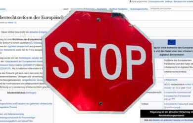 Wikipedia gegen Arikel 13